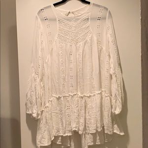 Free People Dresses - Free people Embroidered lace Tunic